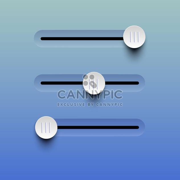 Vector illustration of sliders buttons on blue background - Free vector #129593