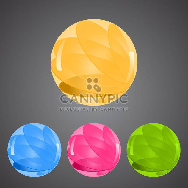 Vector set of colorful buttons on gray background - Free vector #129623