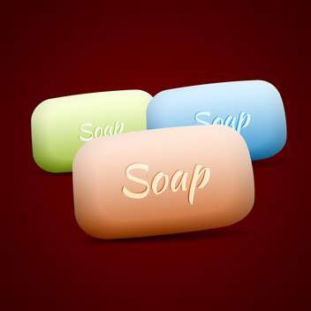 Vector set of colorful soap bars - vector #129663 gratis
