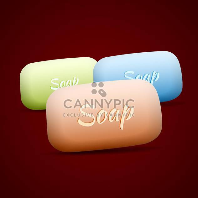 Vector set of colorful soap bars - Free vector #129663