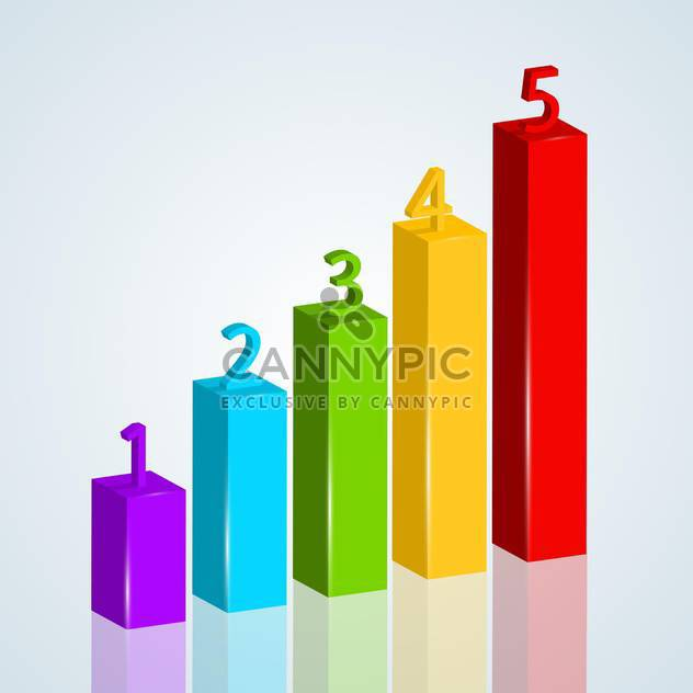 Vector colorful numbered graph chart - Free vector #129763