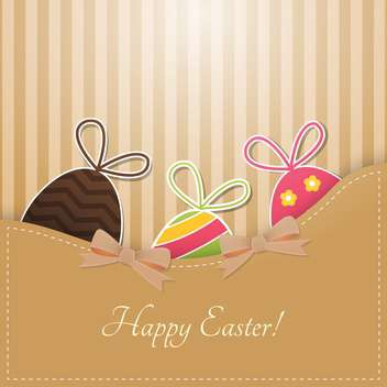 Vector Happy Easter greeting card with eggs - vector gratuit #129883