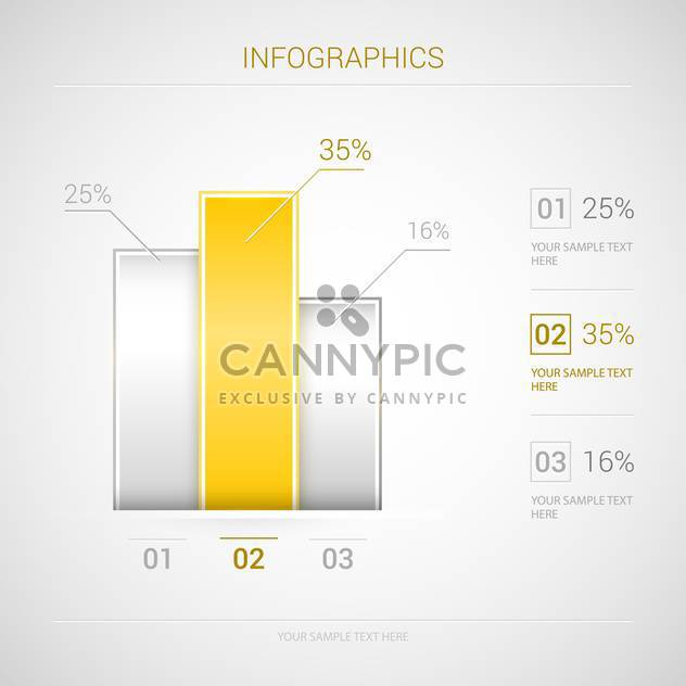 Infographic vector business graphs and elements - Free vector #129933