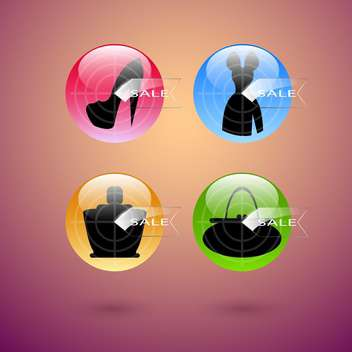Vector target sale colorful banners - vector gratuit #130033