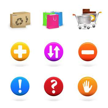 Vector collection of shopping and commerce icons - vector gratuit(e) #130103