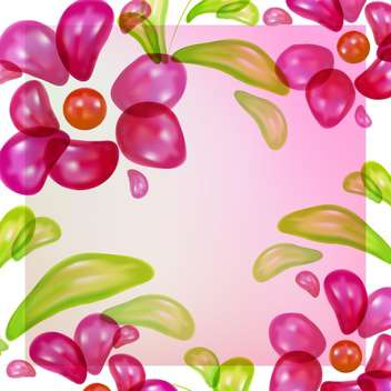 Abstract colorful floral vector background - vector gratuit #130143