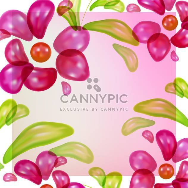 Abstract colorful floral vector background - Free vector #130143