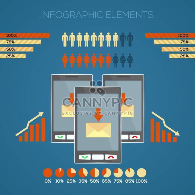 Vektor-set Infographik Elemente mit drei Touchscreen-Handy-Geräte - Free vector #130153