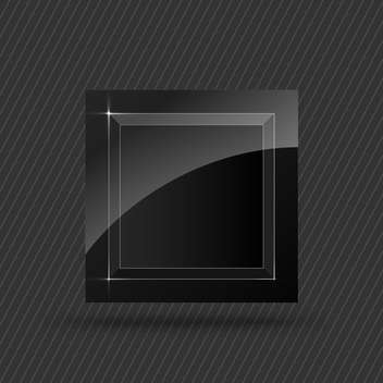 vector black square button - vector gratuit #130243