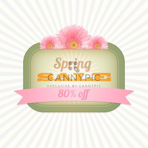 spring shopping sale vintage card - Free vector #130303