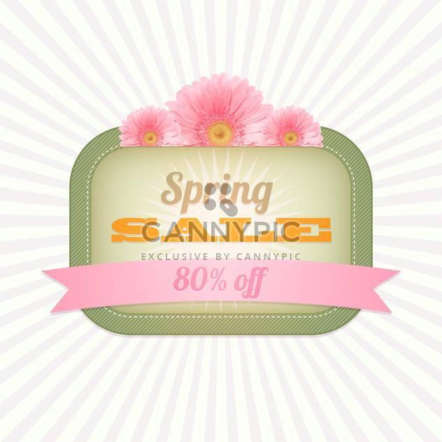 Frühling Einkaufen Verkauf Grußkarte - Free vector #130303