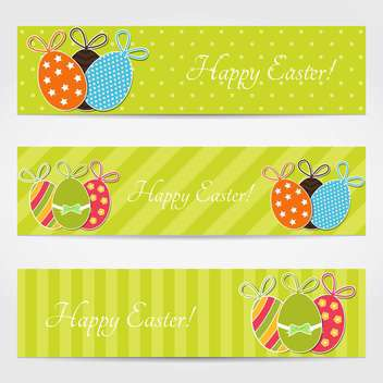 Set with easter eggs banners - vector gratuit #130373