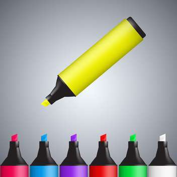 Vector multi-colored markers background - vector gratuit #130433