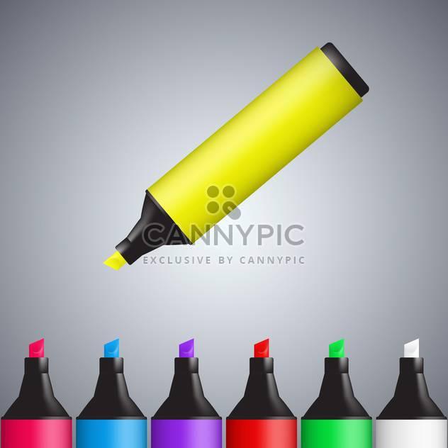 Vektor-multi-farbigen Markierungen-Hintergrund - Kostenloses vector #130433