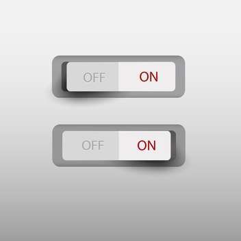 on and off switch button - vector gratuit #130503