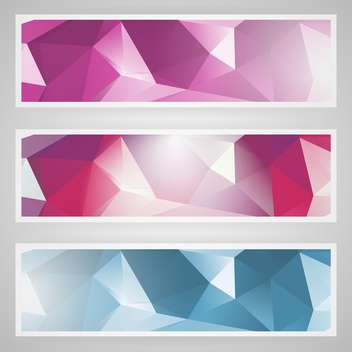 vector set of abstract banners - vector gratuit #130513
