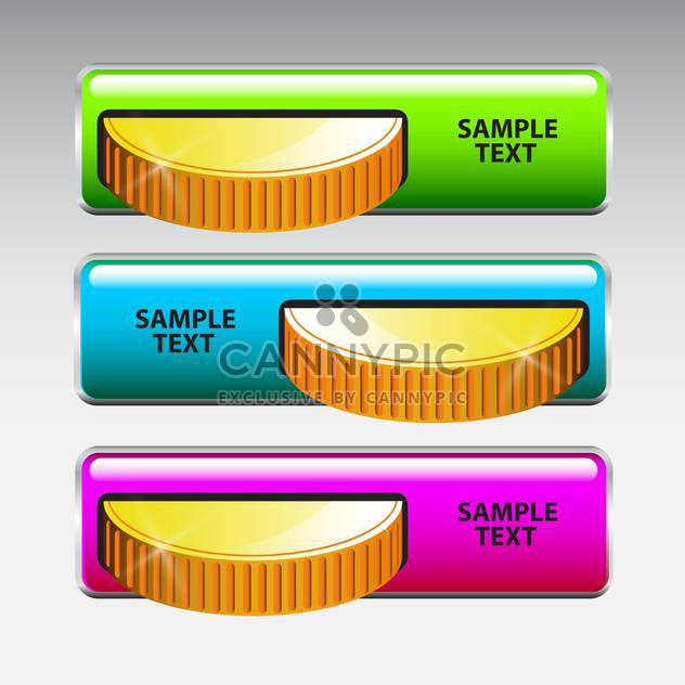 vector illustration of Inserting coins in machine on grey background - Free vector #130613