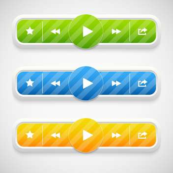 Vector music colorful icons on grey background - vector #130683 gratis