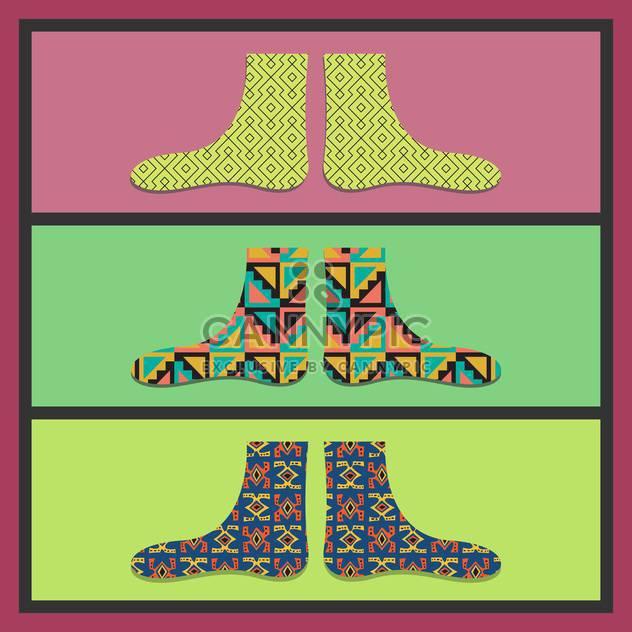 Vektor-bunte Karte mit lustigen Socken - Free vector #130713