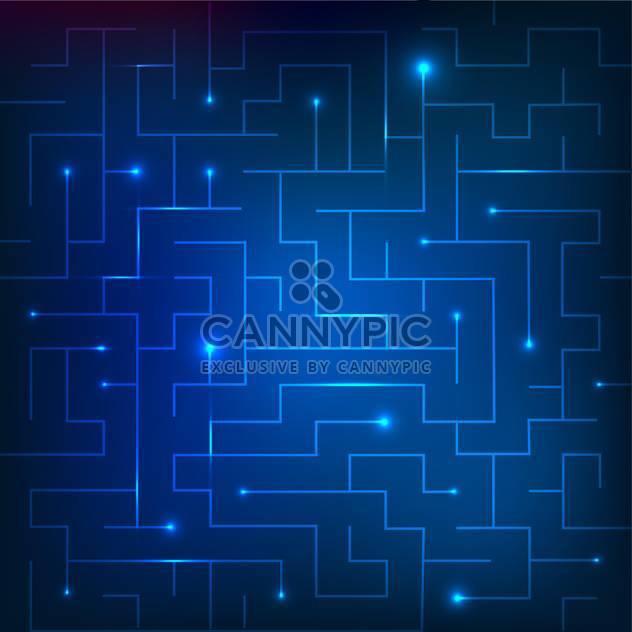 Vector illustration of blue sparkling maze background - Free vector #130773