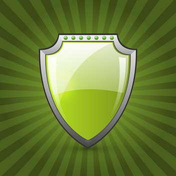 vector illustration of green eco shield - vector gratuit(e) #130783