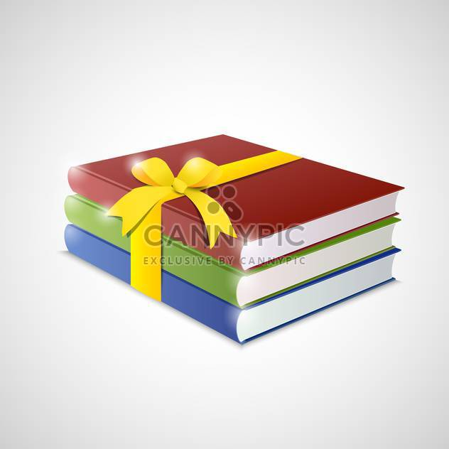 Stack of multicolor books on White Background - Free vector #130813