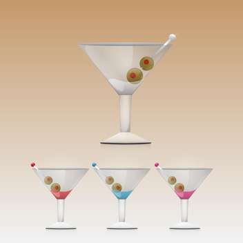 Martini drink in glass vector illustration - Kostenloses vector #130913