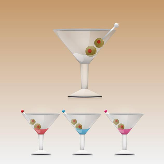 Martini drink in glass vector illustration - Free vector #130913