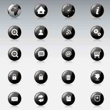 Web icons vector set on grey background - vector #130923 gratis