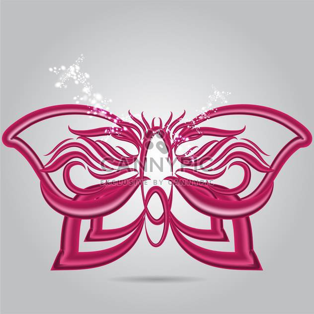 Lila Schmetterling abstrakte Vektor-illustration - Free vector #130933