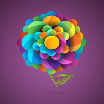Colorful flower with purple background - vector gratuit #130943