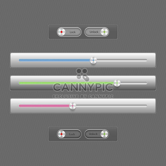Modern color loading bars set - Free vector #131033