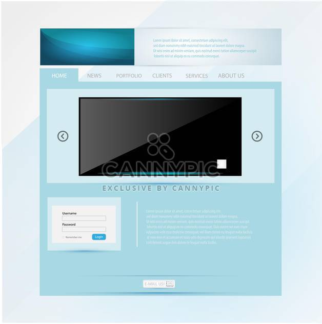 Website-Gestaltung-Vorlage-Vektor-illustration - Free vector #131083
