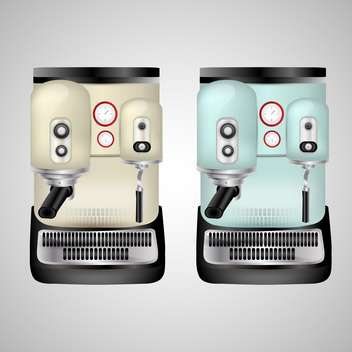Vector cappuccino machine illustration on grey background - vector gratuit #131093