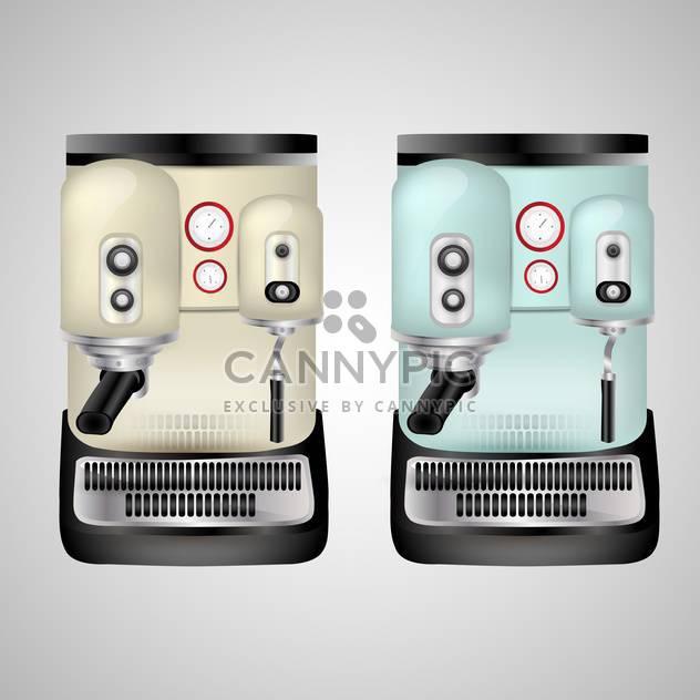 Vektor-Cappuccino-Maschine-Illustration auf grauen Hintergrund - Kostenloses vector #131093