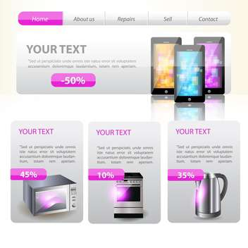 Shop website template design vector illustration - Free vector #131123
