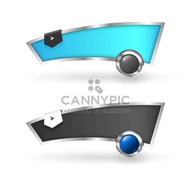 Vektor-Webbanner auf weißem Hintergrund - Free vector #131243