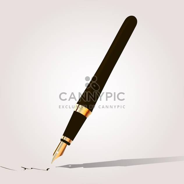 Fountain pen vector illustration - Free vector #131283