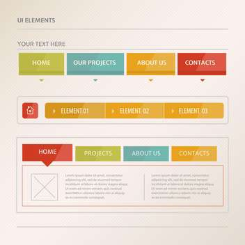 Website design vector elements - Kostenloses vector #131313