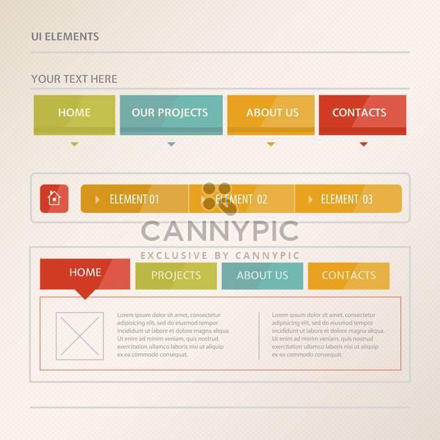 Website design vector elements - Free vector #131313