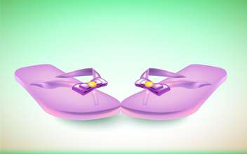 vector pair of flip flops with bow - бесплатный vector #131323