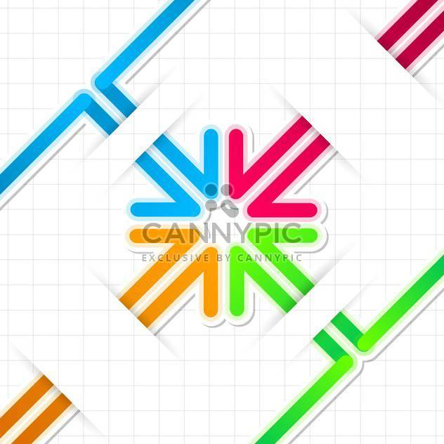 Arrow stickers vector set on white background - Free vector #131363