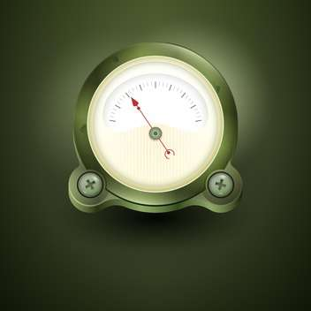 Vector speedometer illustration on green background - vector gratuit #131413
