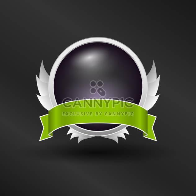 Vektor glänzend Banner mit grünem Band label - Free vector #131423