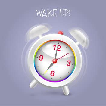Alarm clock ringing on blue background - Free vector #131473