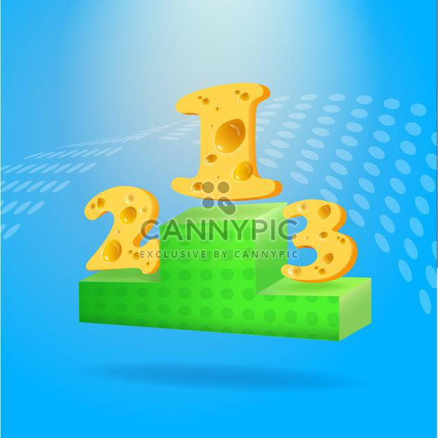 Victory podium with places made of cheese - Free vector #131503
