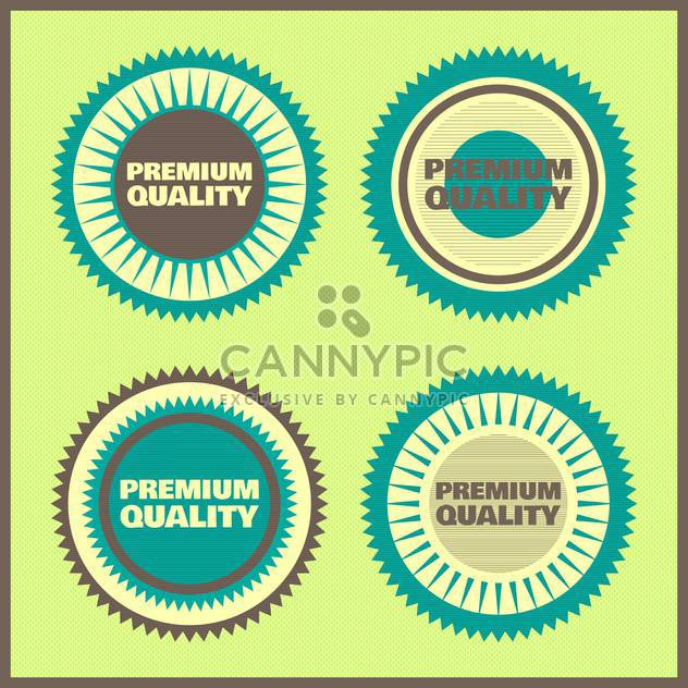 Collection of premium quality labels with retro vintage styled design - Free vector #131523