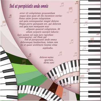 Musical background with piano keyboard - vector gratuit #131543