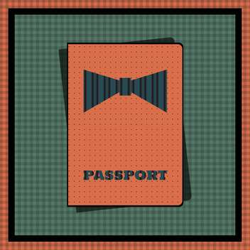 Passport cover vector illustration - vector gratuit #131573