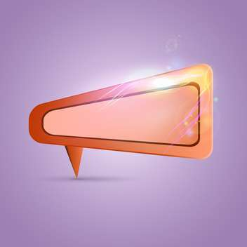 Empty speech bubble on purple background - vector gratuit #131603